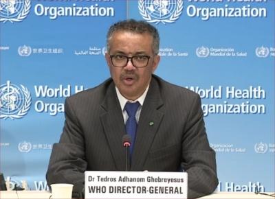 WHOのTedros事務局長(画像:WHO)
