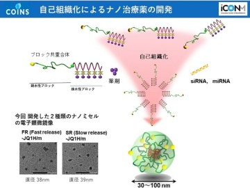 遺伝子発現量に応じた薬剤の使い分け、iCONMが機能性ナノカプセルで実現