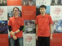 OIST研究員の西辻光希氏と有本飛鳥氏