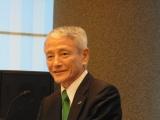 大日本住友の多田社長、「BBI608の後付け解析でリン酸化Stat3が高発現している患者でOS延長」