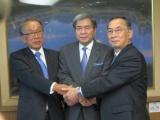 化血研、明治HD、新会社への事業譲渡に向け熊本県庁を表敬訪問