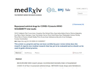 WHOによる新型コロナの第3相臨床試験、4種の治療薬に「効果なし」