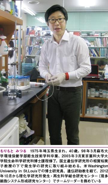 理化学研究所多細胞システム形成研究センター 森本充チームリーダー